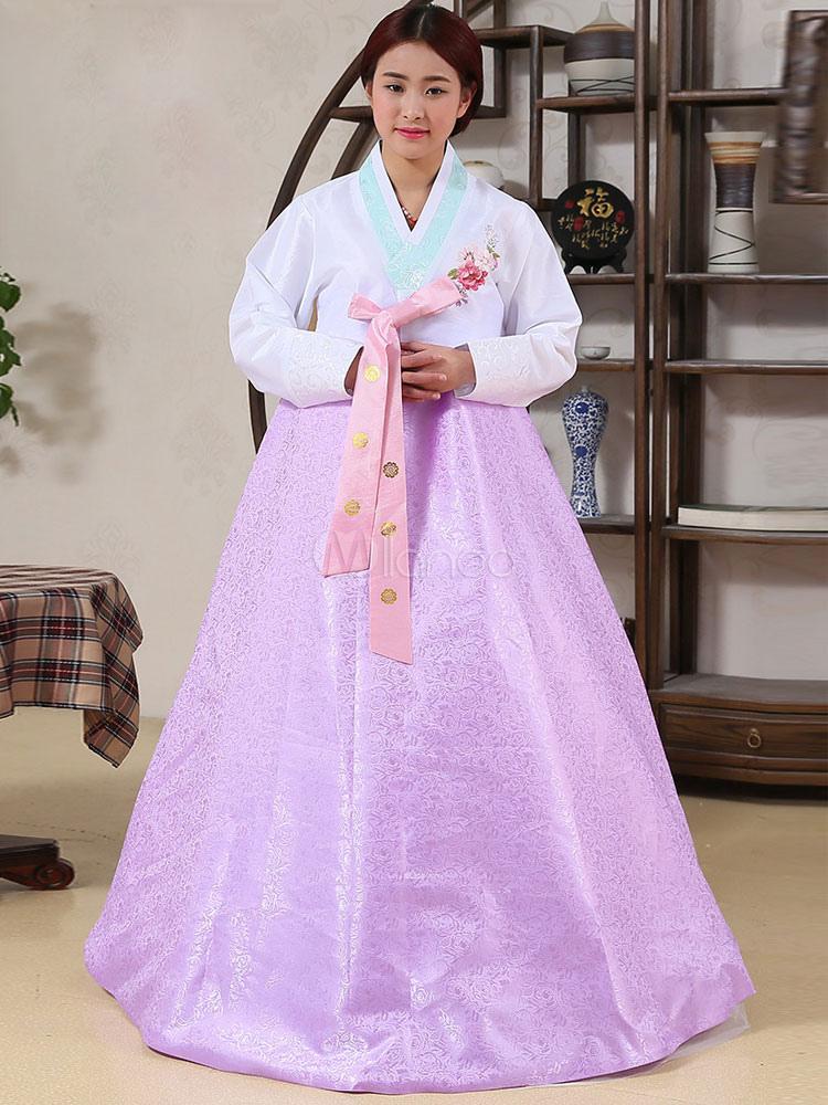 Line piso longitud vestido Maxi Set halloween traje Coreano Vestido ...