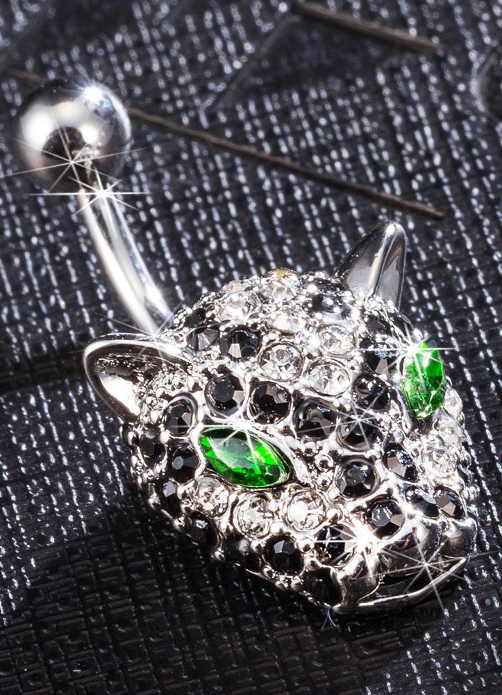 anneaux nombril cristal leopard animal au corps sexy bijoux piercing de cuivre. Black Bedroom Furniture Sets. Home Design Ideas