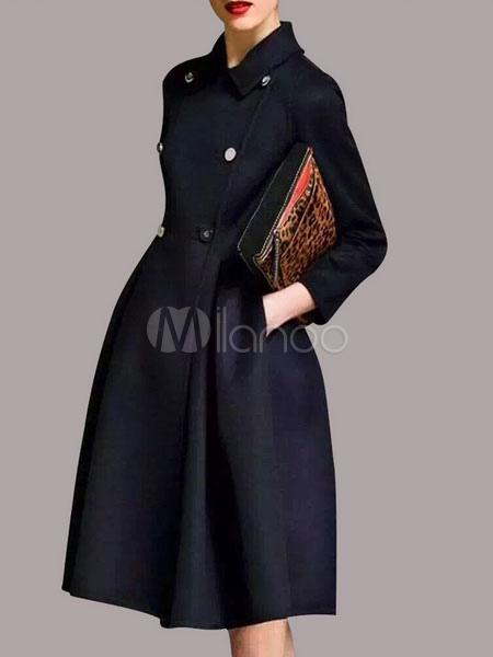 cappotto doppiopetto da donna stile militare