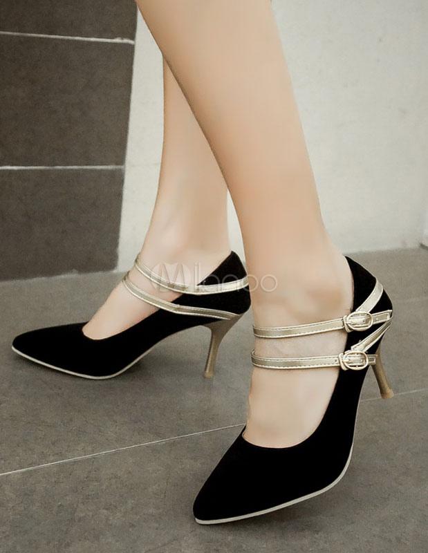 mary jane heels frauen high heel wies toe pumps mit riemen. Black Bedroom Furniture Sets. Home Design Ideas