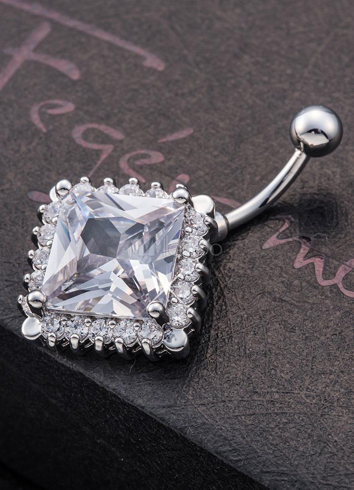 nombril anneaux piercing nombril g om trique blanc bijoux. Black Bedroom Furniture Sets. Home Design Ideas