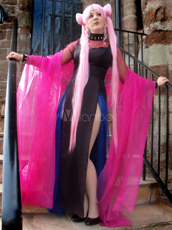Sailor Moon Sailor Chibi Moon Black Lady Cosplay Costume Small Lady Chibiusa Cosplay Halloween