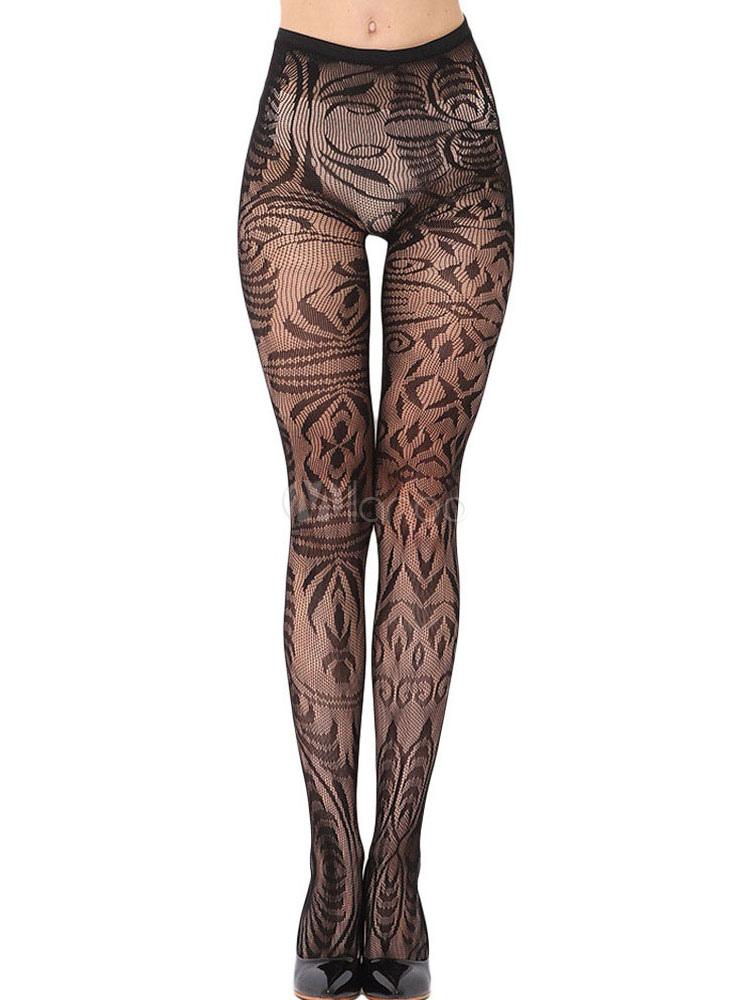 Räumungspreis genießen wie man serch einzigartiges Design Frauen schwarze Strumpfhose Spitze schiere Sexy Strumpfhosen
