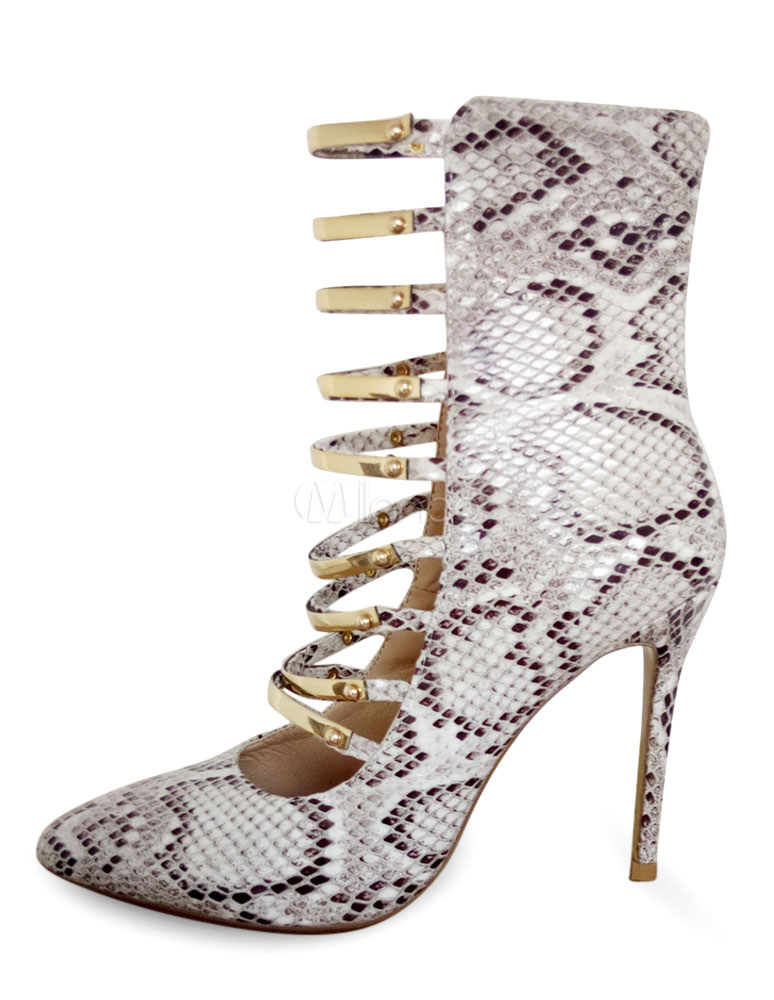 20c7bbd96e ... Women's Gladiator Pumps High Heel Strappy Snake Print Sexy Evening ...