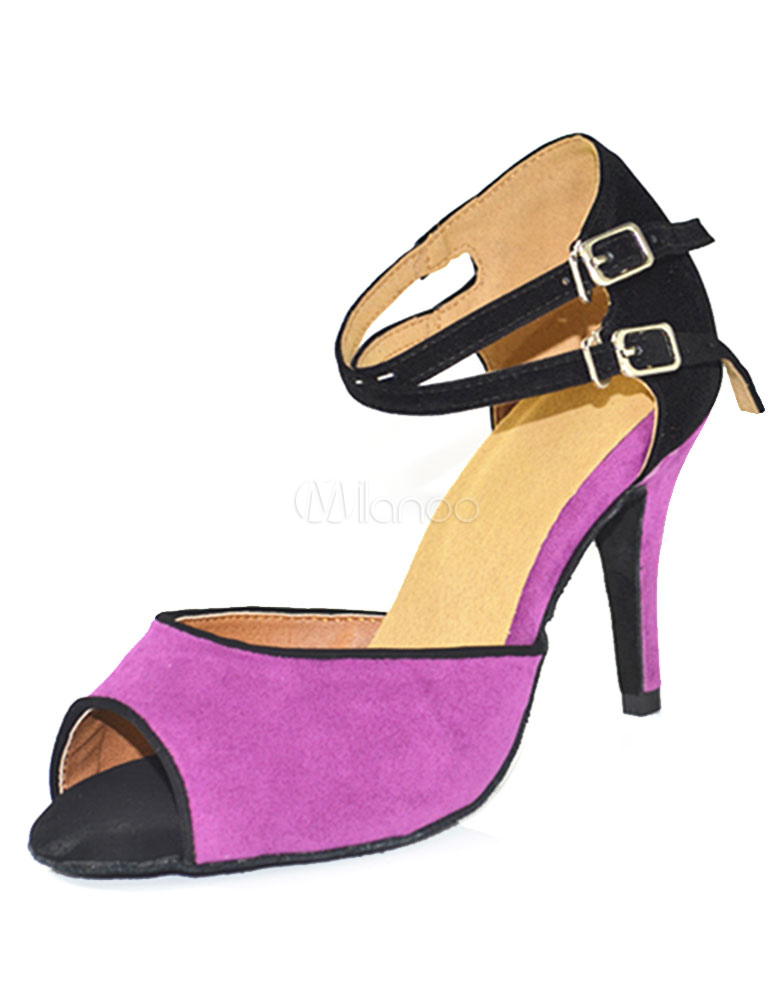 Zapatos de bailes latinos Piel sintética morados color liso estilo moderno 9F3JJmF9