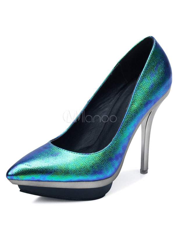 Zapatos de plataforma de PU Color liso estilo moderno ItbRl