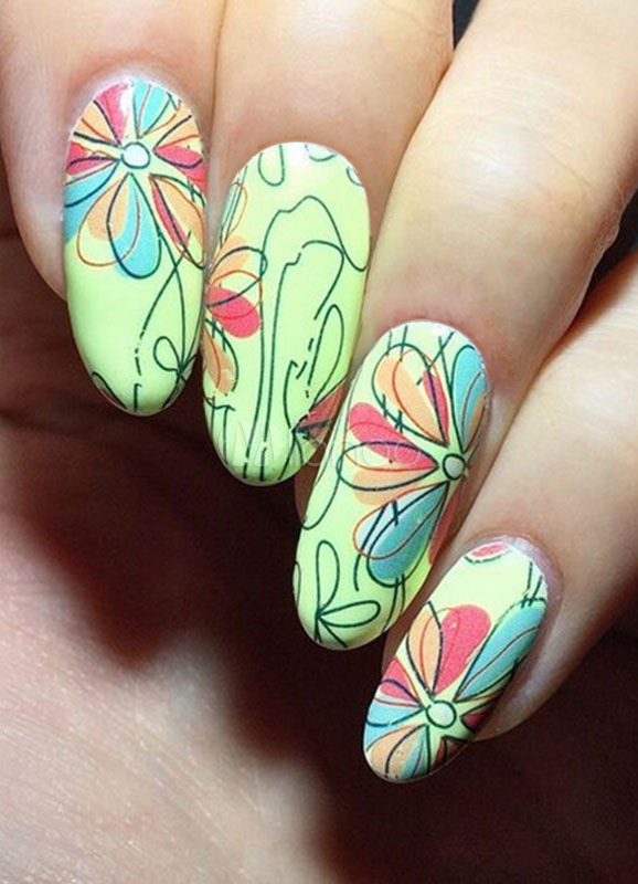Etiquetas engomadas del clavo de las mujeres blancas uñas impresas ...