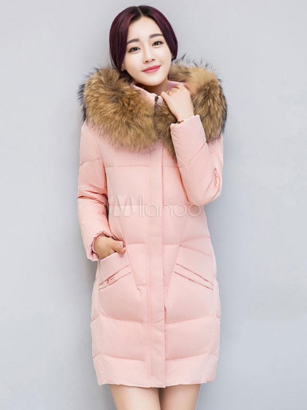 Cinza com bojo casaco com capuz manga longa bolsos casaco pelo falso colar  feminino de inverno ... 5c5ecffe761c9