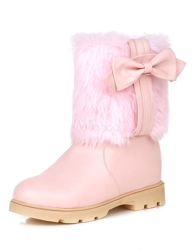 Pink Snow Boots For Women