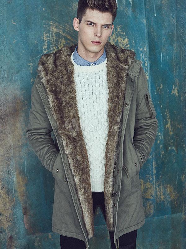 Cappotto pelliccia uomo