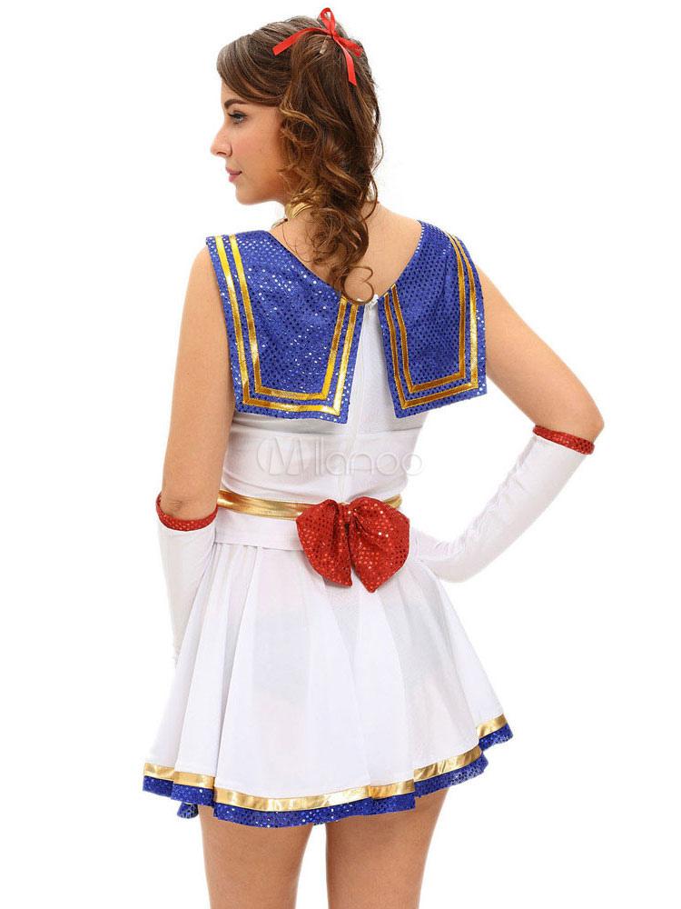 Sexy School Girl Kostu00fcm Karneval Nerd Frauen weiu00df gestreiften Ru00fcsche Rock Outfit In 5 Stu00fcck ...
