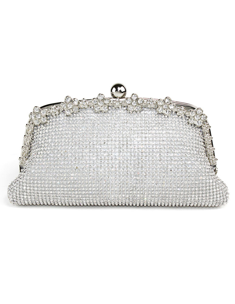 Buy Wedding Clutch Bag Gold Rhinestones Beaded Bridal Evening Bags for $29.99 in Milanoo store