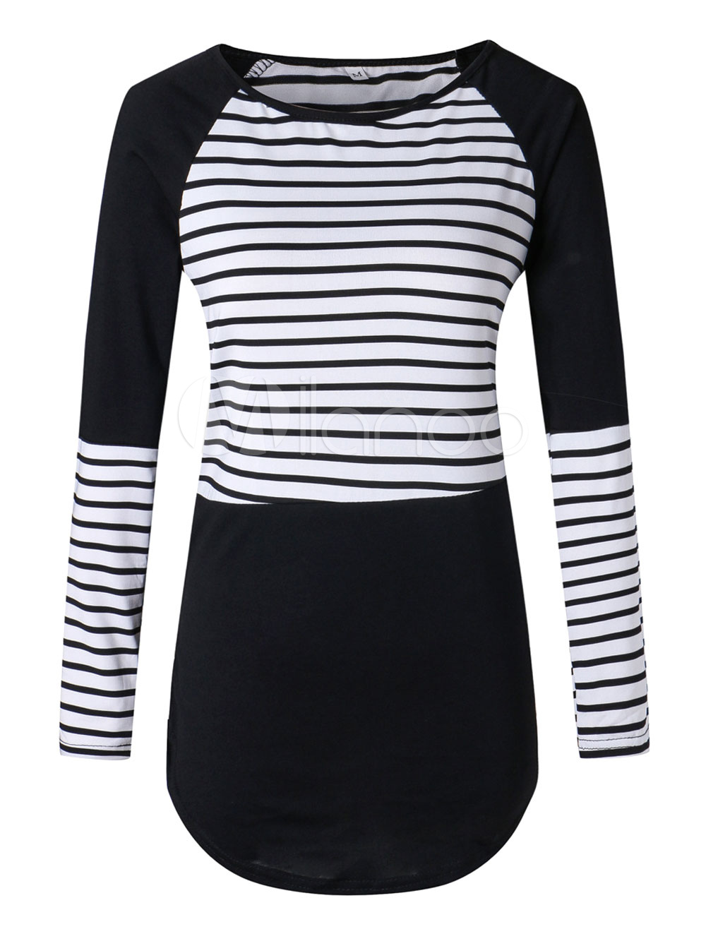 5a1d67a5a57 Womens Black And White Thick Striped Shirt - raveitsafe