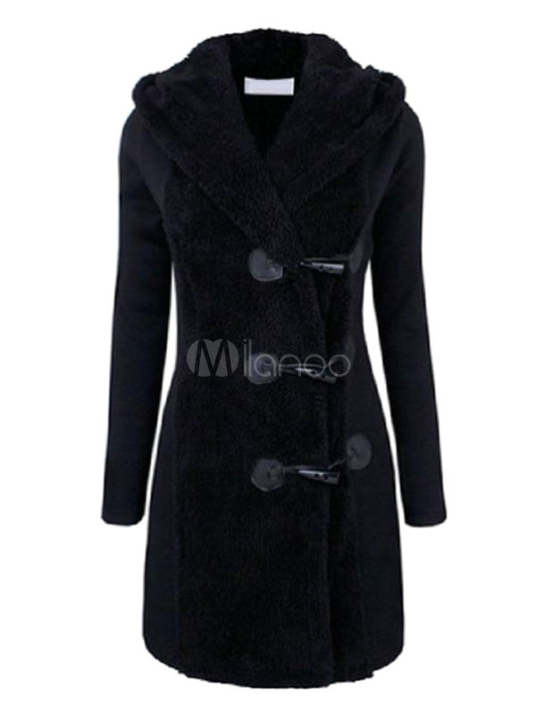Buy Hooded Duffle Coat Women's Long Sleeve Thick Warm Winter Coats for $38.50 in Milanoo store