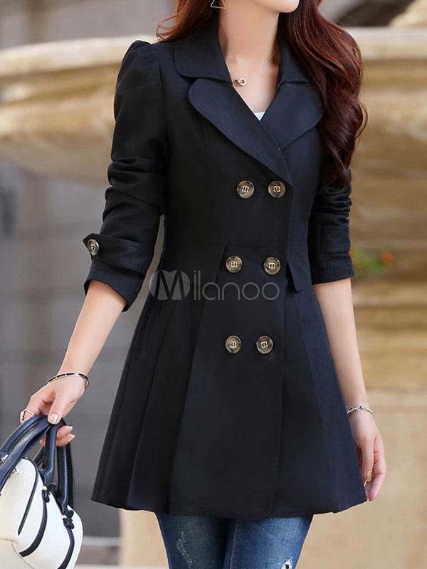 manteau femme 2018 v tement femme fashion kaki manches longues coton manteau pour femmes. Black Bedroom Furniture Sets. Home Design Ideas
