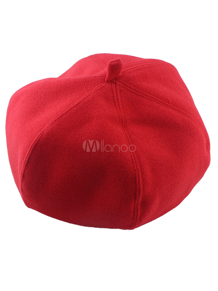 Red Beret Hat Cotton Hat For Women