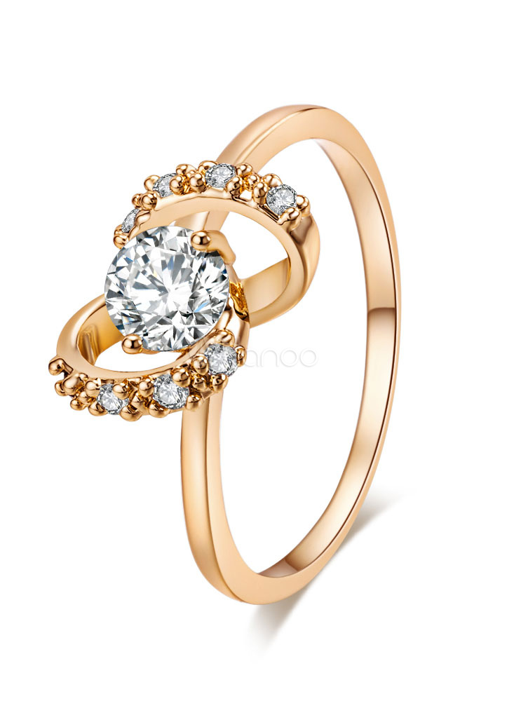 e20c1e7e1 خواتم ذهب المرأة خاتم الماس النحاس المشاركة - Milanoo.com