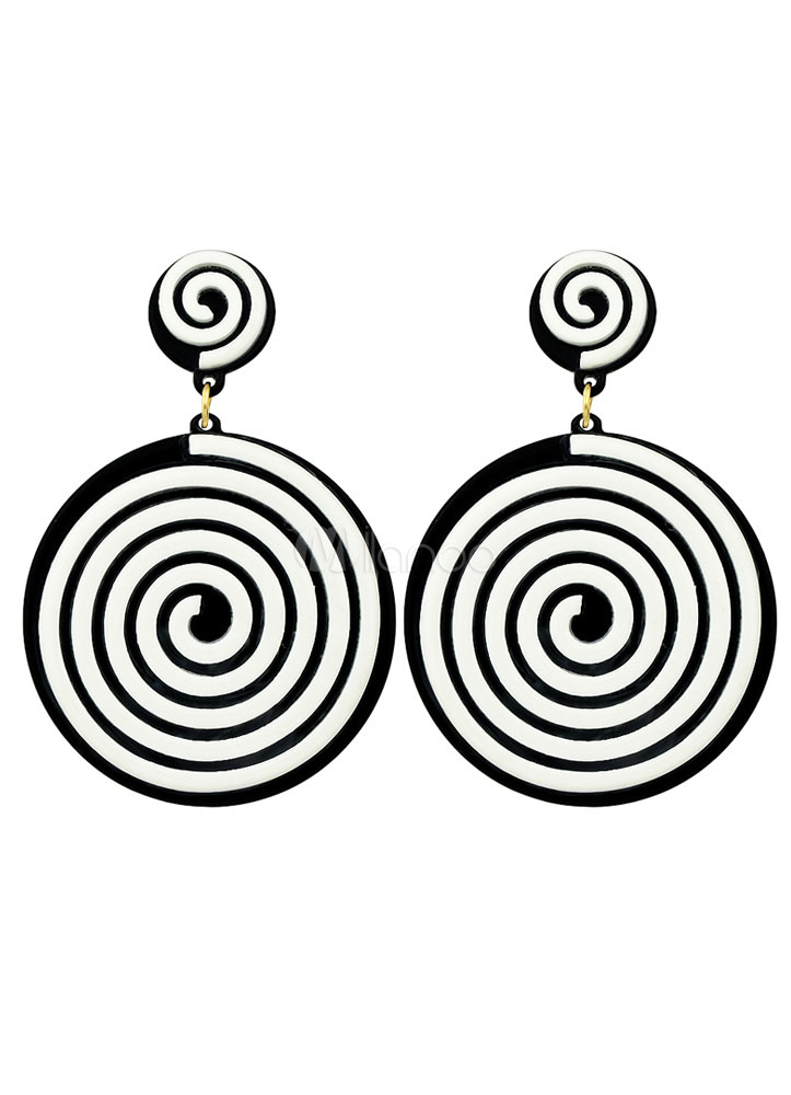 Buy White Fashion Stud Earrings Round Pierced Dangle Earrings for $2.99 in Milanoo store