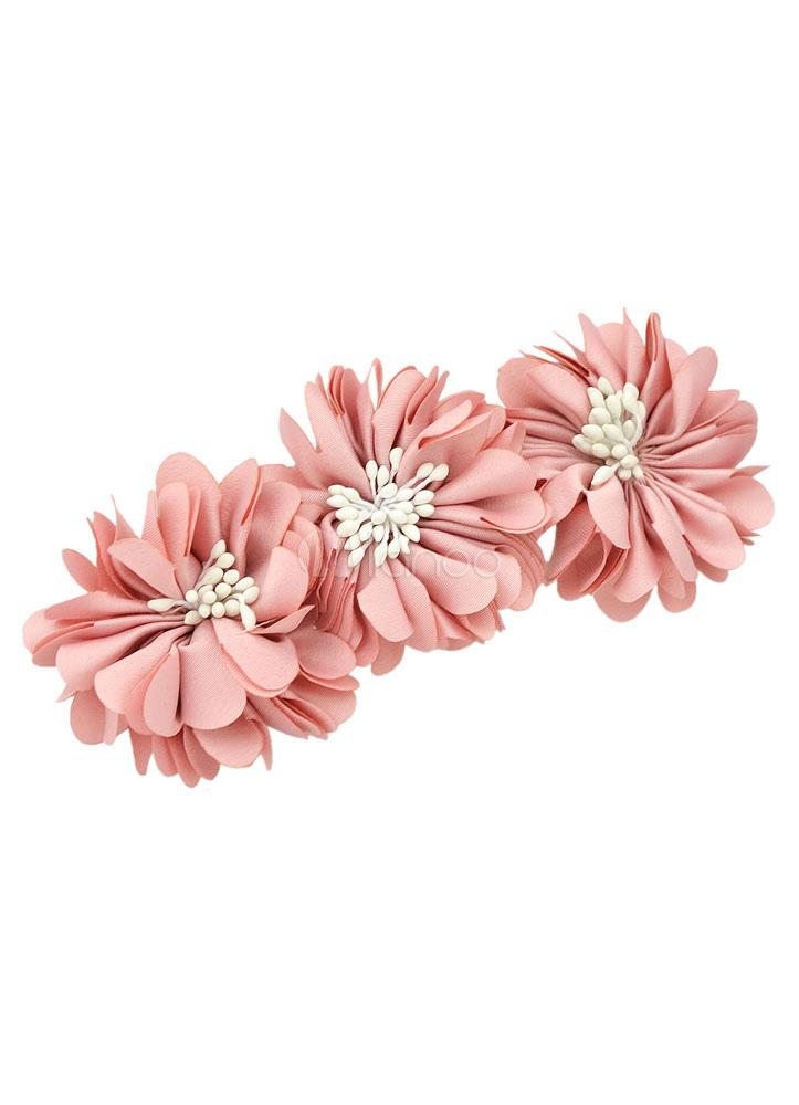 Pink Flower Hair Accessories