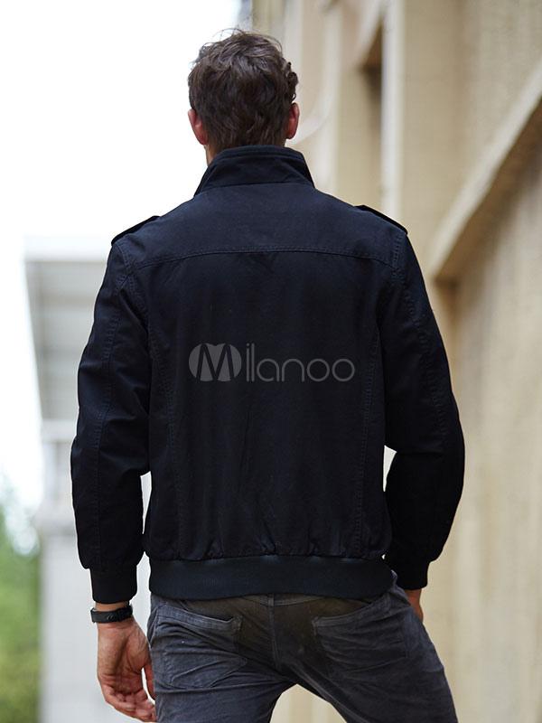 Men S Military Jacket Shoulder Strap Logo Army Style Short