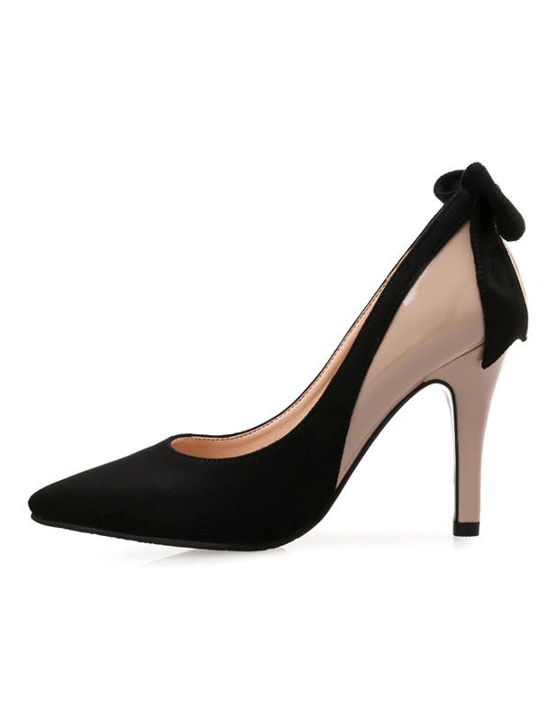 Zapatos de tacón de dos tonos con lazo CoBnuEv
