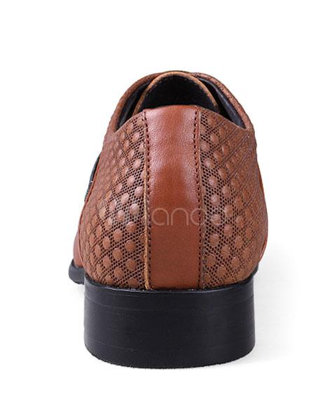 Zapatos de vestir de cuero auténtico Color liso estilo gastado formal J8H1yLQawJ