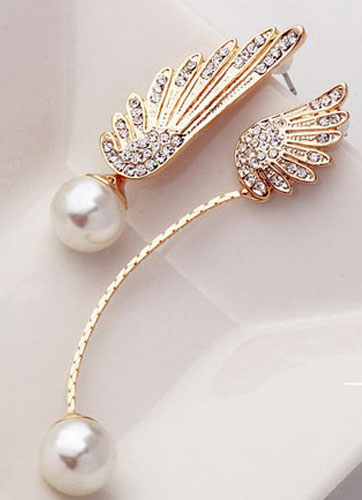 Ecru White Drop Earrings Allory Angel Wings Earning for Women