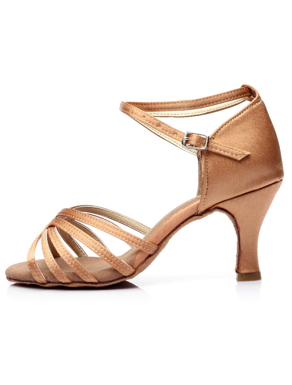 Zapatos de baile Deportivo textil satinado salón zapatos para las mujeres EYXV4k