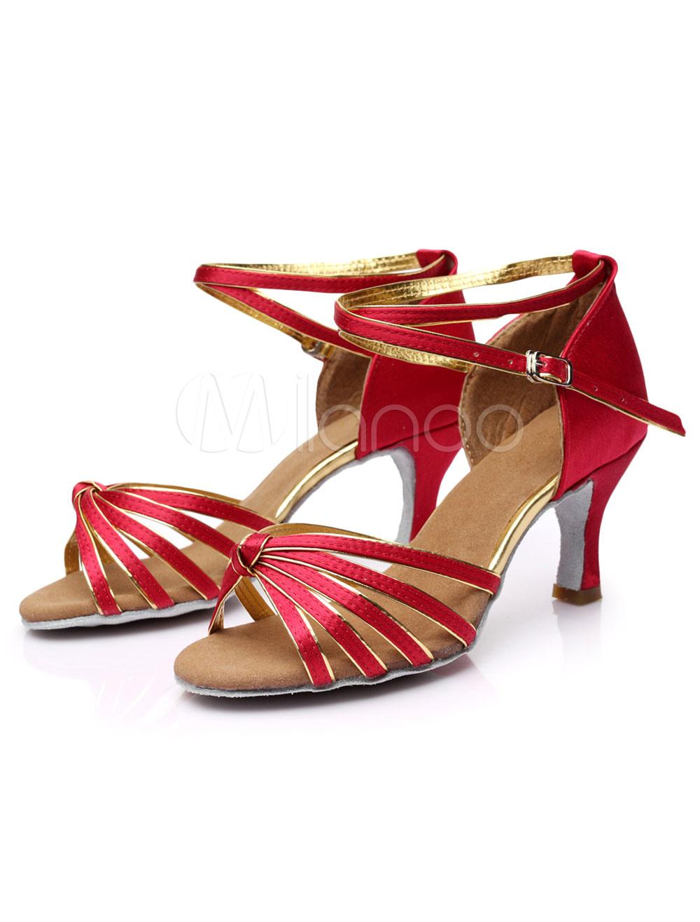 Zapatos de salón de satén color marrón oscuro para las mujeres 1pBtLpEu