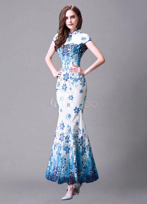 fe66d158fd45 Matrimonio multicolor vestito cinese sirena Pizzo Abito da sposa-No.1 ...
