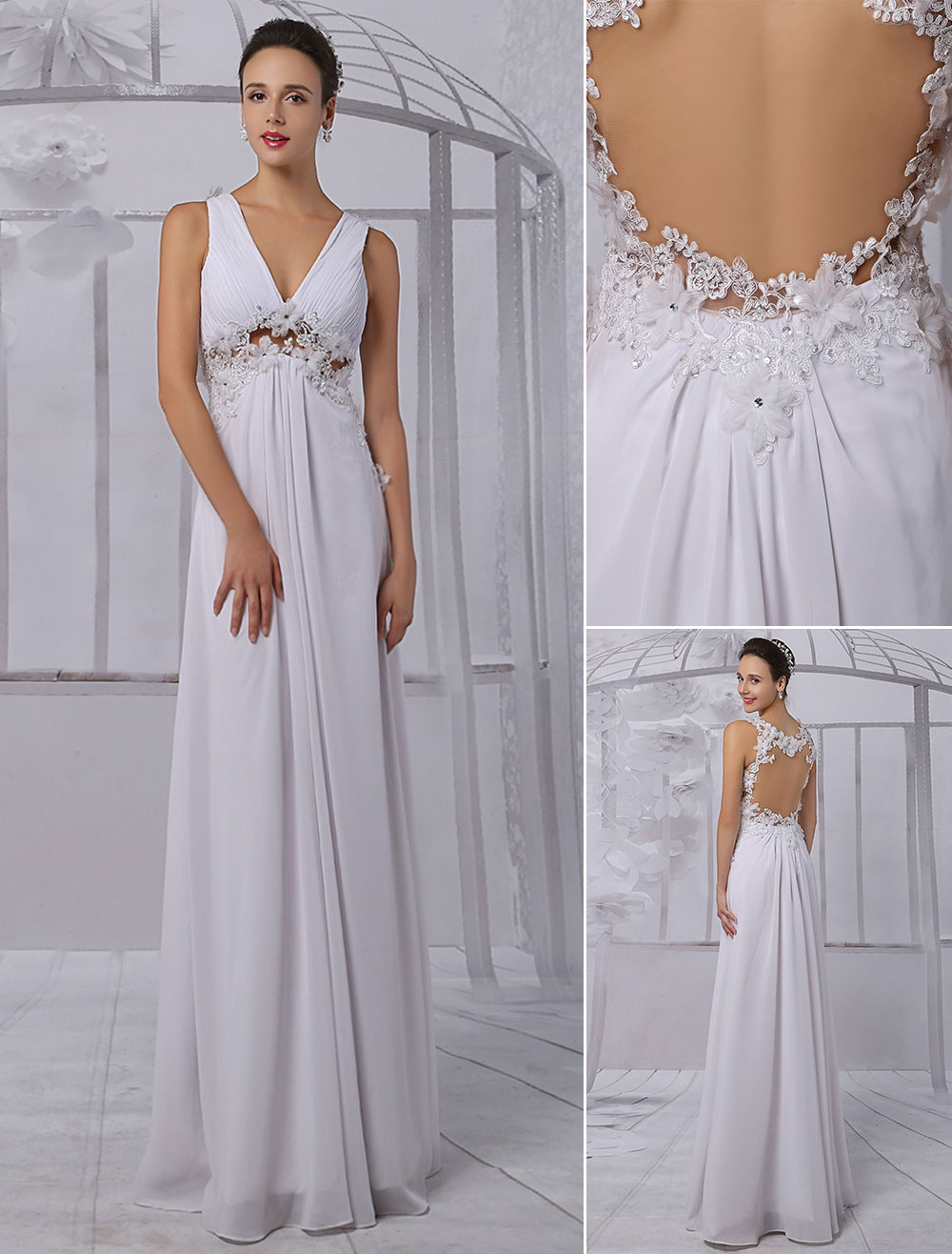 Empire Chiffon Wedding Dresses