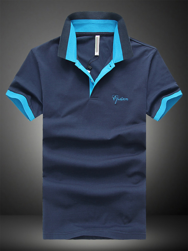 Buy Handsome Cotton Short Sleeves Mens Polo Shirt for $14.39 in Milanoo store