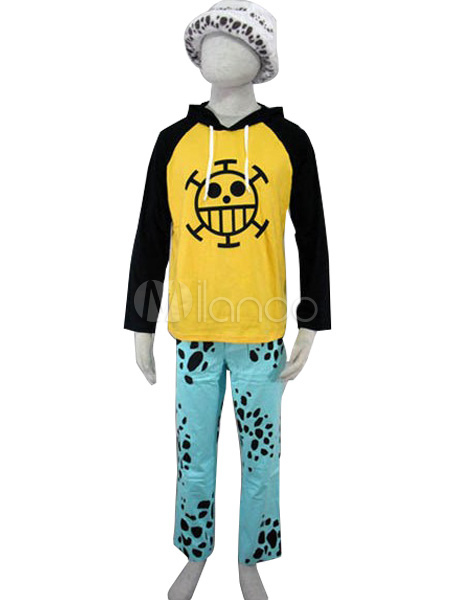 one piece trafalgar law halloween cosplay costume. Black Bedroom Furniture Sets. Home Design Ideas