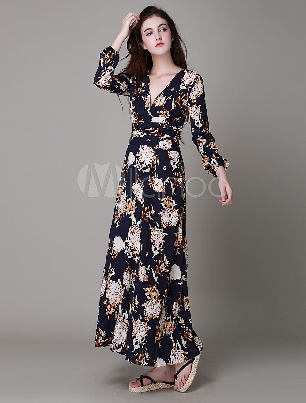 Como hacer un vestido largo estampado