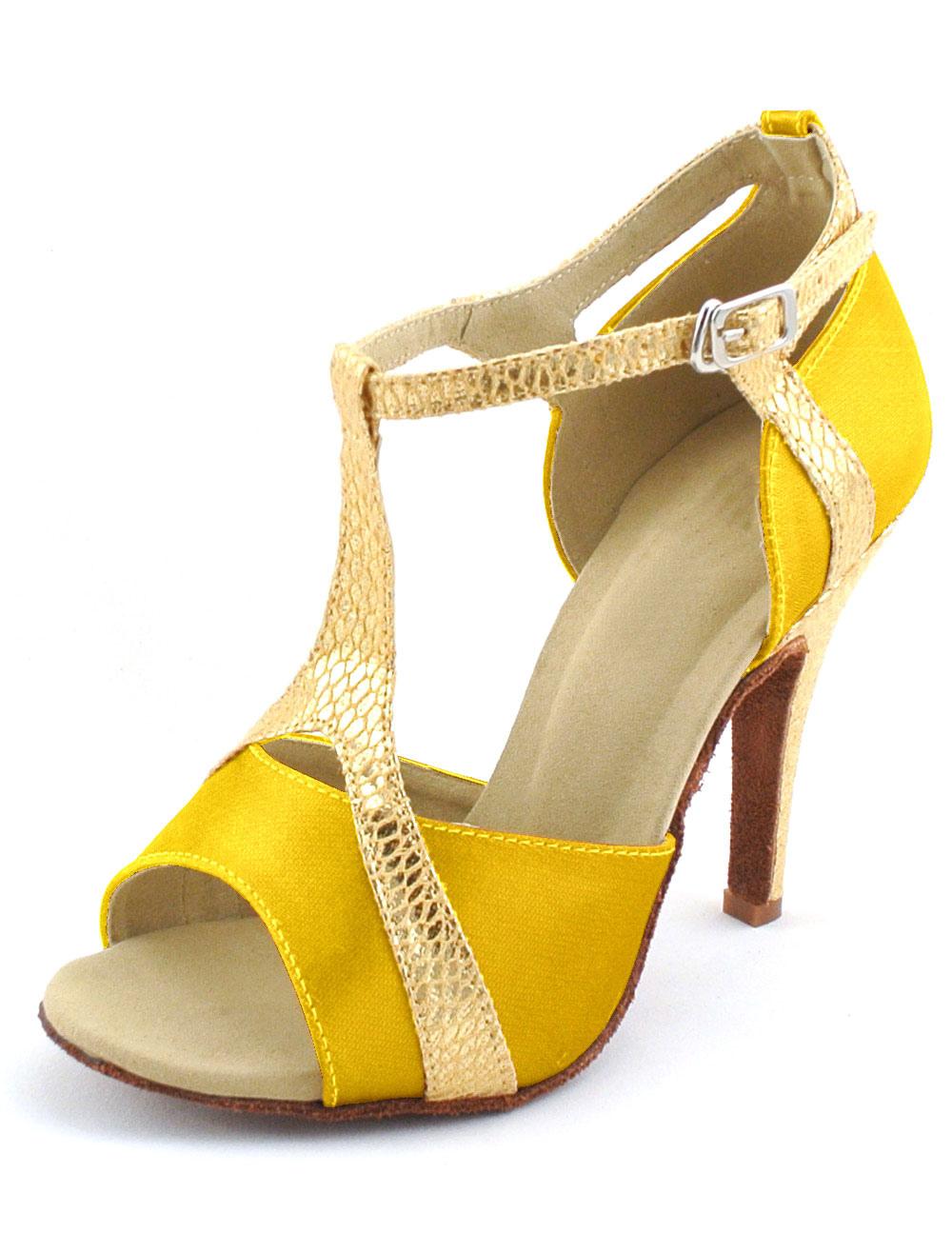 Peep Toe Women's Latin Dance Sandals Ballroom Shoes