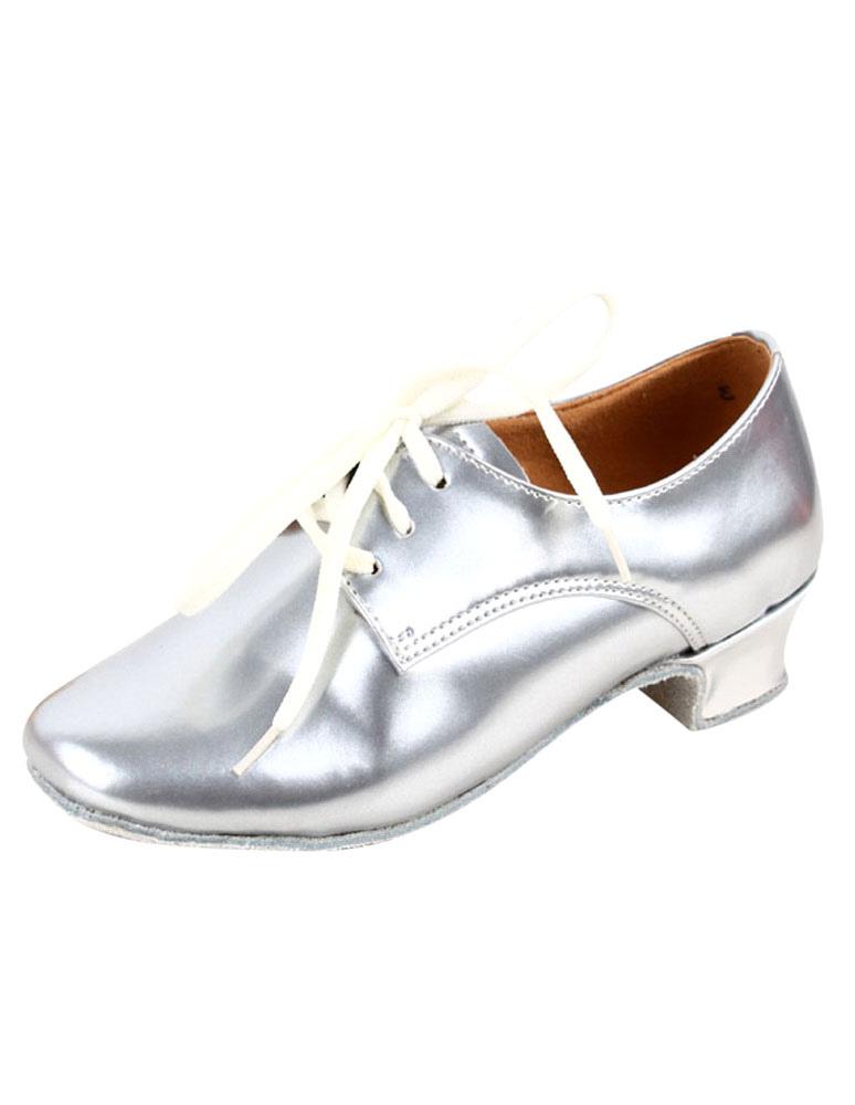 Round Toe Patent Criss-Cross PU Leather Fashion Latin Shoes