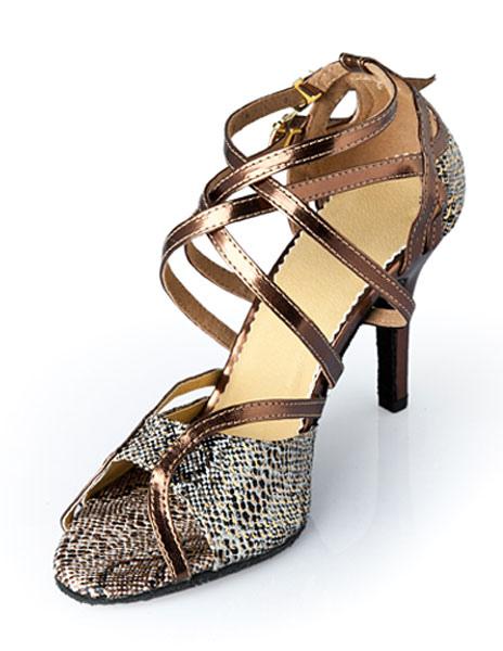 Zapatos de bailes latinos con estampado de serpiente NyPJz2wNz