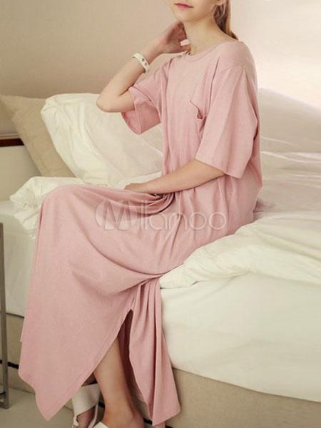 a913423a6 T-shirt Dress Flared Sleeve Oversized Maxi Dress - Milanoo.com