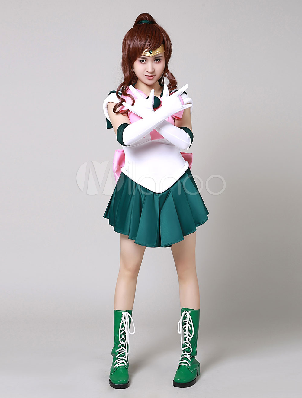 sailor moon sailor jupiter makoto kino cosplay costume. Black Bedroom Furniture Sets. Home Design Ideas