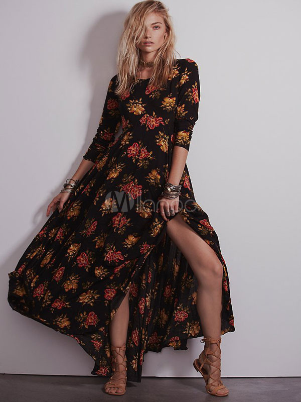 Kleid langarm boho