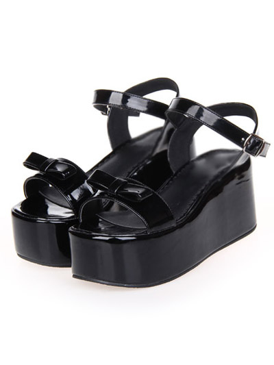 Sweet Lolita Sandals High Platform Ankle Strap Buckle Bow