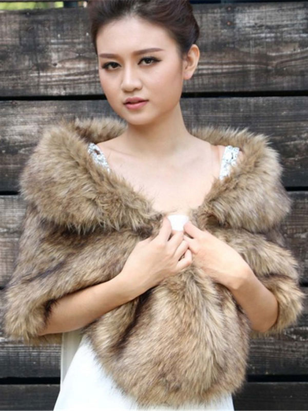 Women Faux Fur Wrap Wedding Shawls Cheap clothes, free shipping worldwide