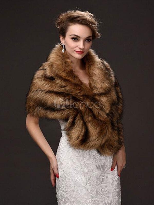 Faux Fur Wrap Women Faux Fur Shawl Wedding Wraps