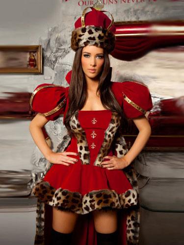 Buy Halloween Red Queen Velour Stylish Sexy Costume For Women Halloween for $44.09 in Milanoo store