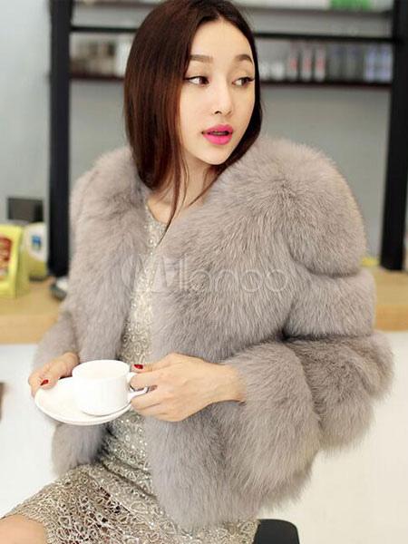 cheap for discount 8ca9e f3370 Giacca corta pelliccia ecologica