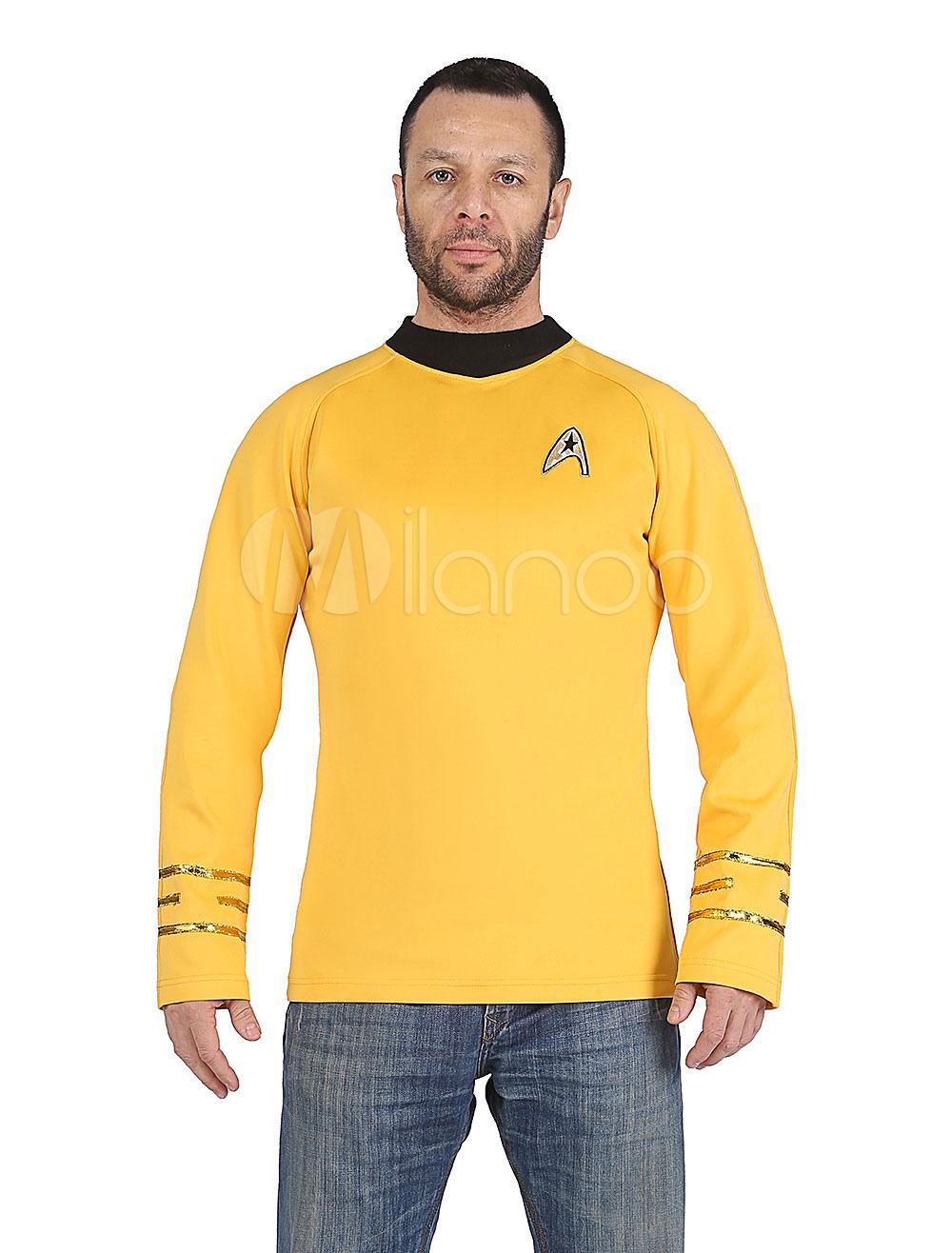 Buy Star Trek James T Kirk 2018 Film Cosplay Costume Long Sleeve T Shirt Halloween for $44.99 in Milanoo store