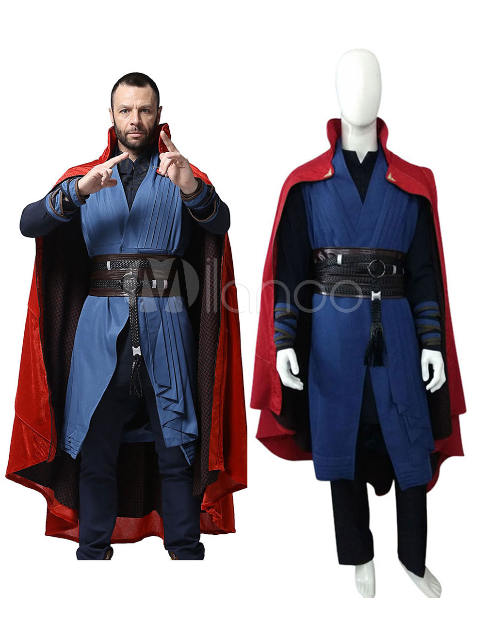 Doctor Strange 2019 Dr Stephen Strange Halloween Cosplay Costume Marvel  Comics Cosplay-No.1 ... f2a7d38d992