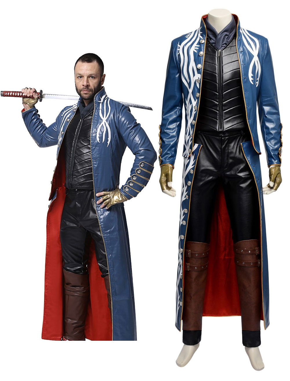 Devil May Cry Vergil Cosplay Costume  Halloween