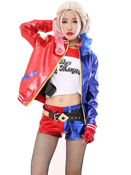 Buy Batman Suicide Squad Harley Quinn Halloween 2018 Film Cosplay Costume Full Set Halloween for $71.99 in Milanoo store