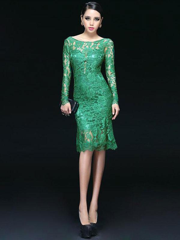 buy popular 24406 3f8f6 Vestito verde pizzo – Abiti in pizzo